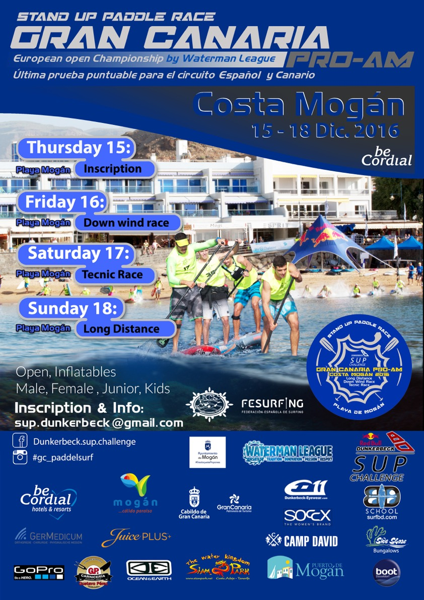 Poster Gran Canaria pro-am sup race