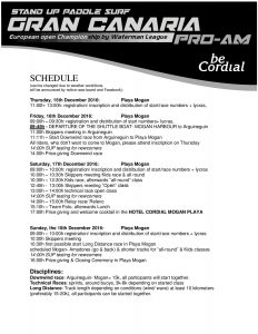 timetable, event schedule