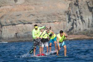 Winning paddle hard