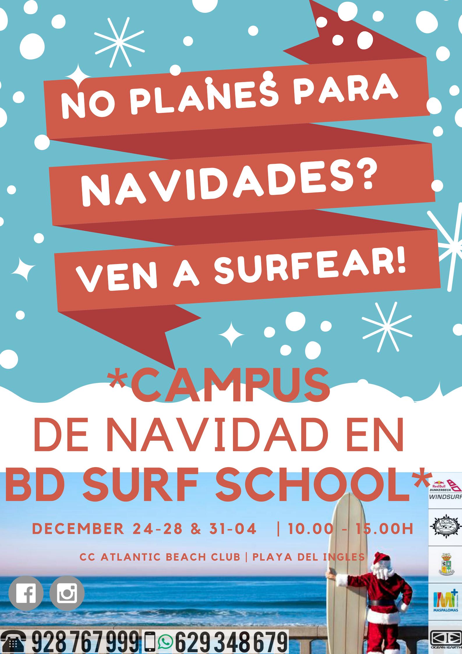 campus de navidad Dunkerbeck surf school