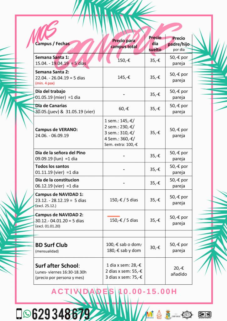Camspus e eventos Dunkerbeck Surf School Gran Canaria
